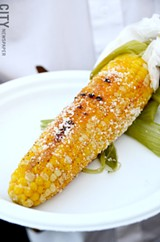 Cajun corn on the cob. - PHOTO BY MATT DETURCK