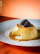 Caramel custard flan from Rio Tomatlan. - PHOTO BY MARK CHAMBERLIN