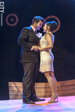 "Carl Del Buono and Janine Mercandetti in ""The Last Five Years."" - PHOTO COURTESY JCC CENTERSTAGE"