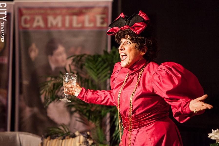 "Carol Dunitz in ""Bernhardt on Broadway"" - PHOTO BY JOHN SCHLIA"