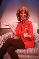 "PHOTO COURTESY DOWNSTAIRS CABARET THEATER - Carolyn Michel in ""Family Secrets,"" now on stage at Downstairs Cabaret Theatre in Winton Place."
