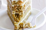 PHOTO BY MARK CHAMBERLIN - Carrot cake from Paternico's.