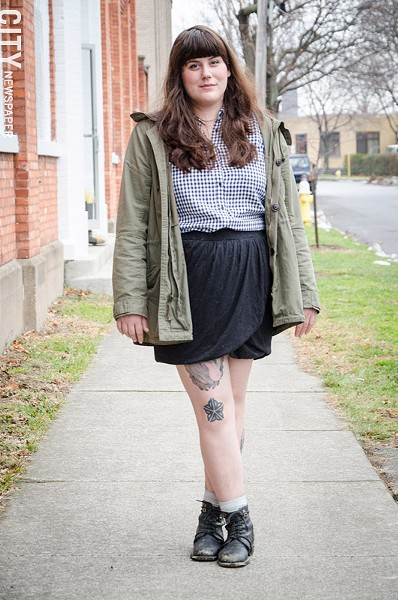 Cassandra Sloss says her Flower City tattoo gets a lot of attention. - PHOTO BY MARK CHAMBERLIN