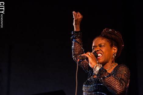 Catherine Russell performed at the Harro East Ballroom. - PHOTO BY JOHN SCHLIA