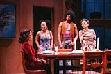 "SANDY UNDERWOOD - Changing tastes at the dinner table: cast members from Geva's ""Blue."""