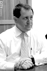 FILE PHOTO - Citing an increased workload, Joe Morelle will step down as leader of Monroe County Democratic Committee in September.