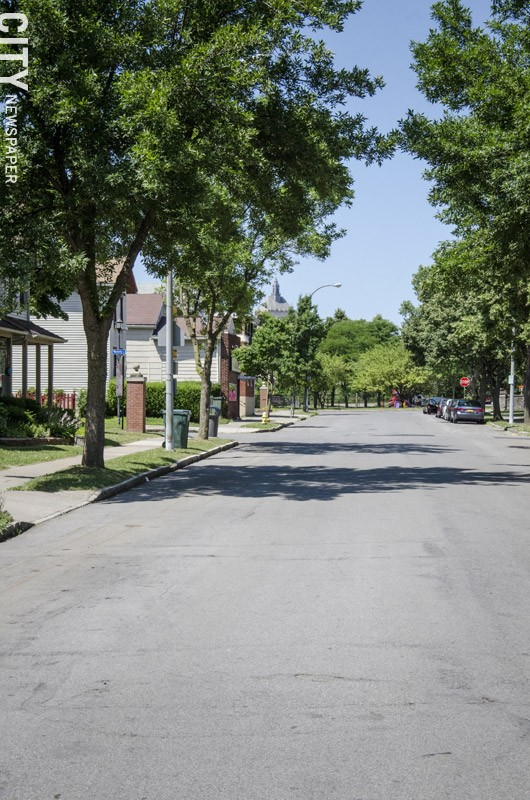 Clarissa Street as it appears today. - PHOTO BY MARK CHAMBERLIN