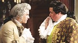 "TOUCHSTONE PICTURES - Clothed in lace and frills: Heath Ledger and Oliver Platt in ""Casanova."""