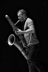 Colin Stetson performed Thursday, June 28, at Kilbourn Hall. PHOTO BY FRANK DE BLASE