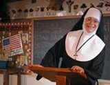 "PHOTO COURTESY GEVA THEATRE CENTER - Colleen Moore as Sister in ""Sister Strikes Again! Late Nite Catechism 2."""