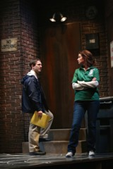 "PHOTO BY KEN HUTH - Constance Macy and Nick Abeel in ""Good People,"" now on stage at Geva Theatre Center"