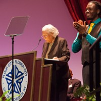 Mayor Lovely Warren's Inauguration Ceremony Constance Mitchell PHOTO BY JOHN SCHLIA