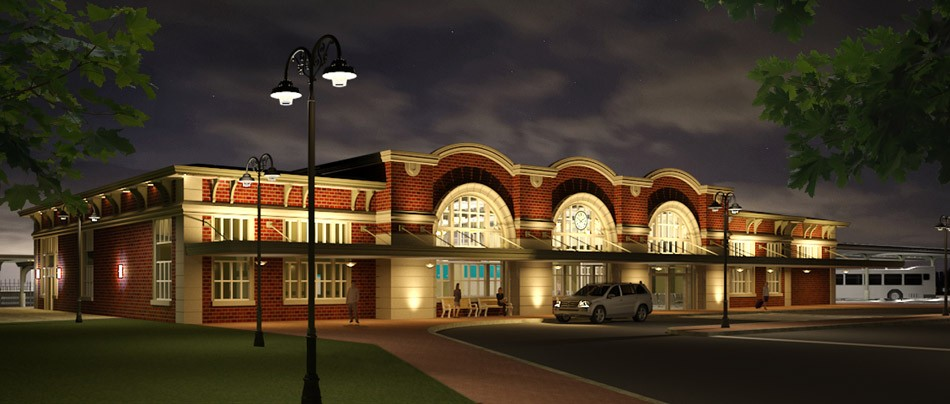 Construction on the new Rochester train station should begin later this year. Pictured is a conceptual view of the station's exterior. - RENDERING SUBMITTED BY NEW YORK STATE DOT