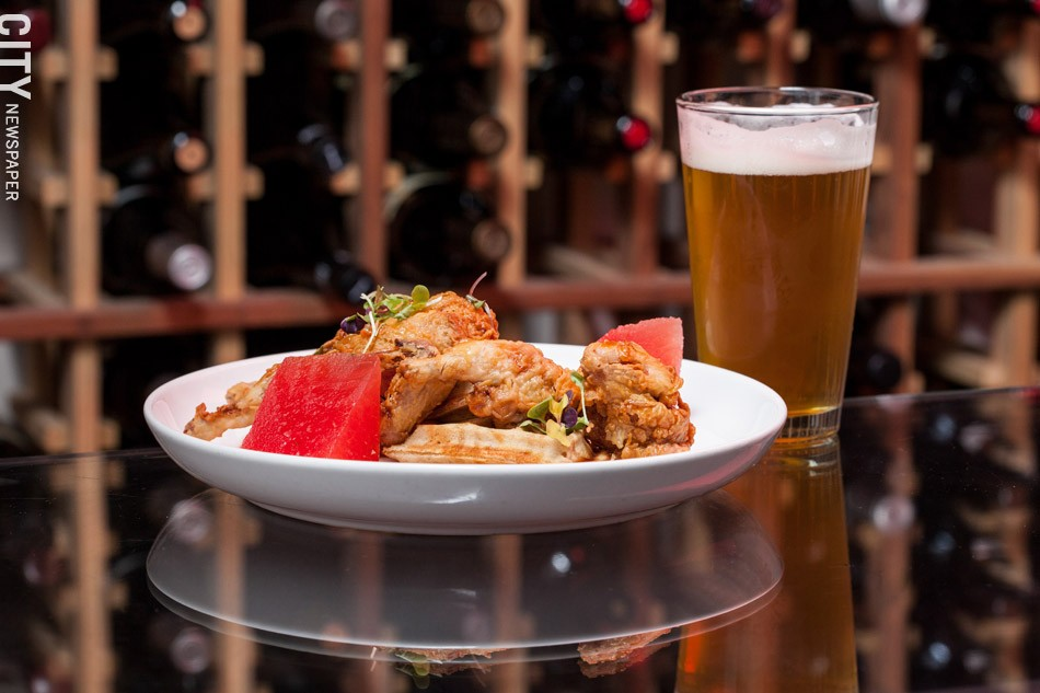 Country Fried Quail and a beer from The Revelry. - PHOTO BY JOHN SCHLIA