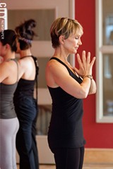Cyndi Weis of Breathe Yoga. - PHOTO BY JOHN SCHLIA