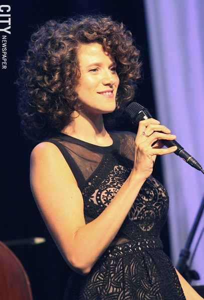 Cyrille Aimee performed at Max of Eastman Place. - PHOTO BY FRANK DE BLASE