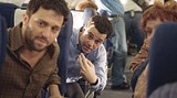 """UNIVERSAL PICTURES - Daniel Sauli, David Alan Basche and Denny Dillon (left to right) play doomed - passengers in """"United 93."""""""