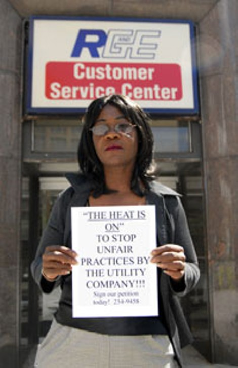 Darlene Williams is circulating a petition to protest Rochester Gas & Electric's decision to halt service for customers behind on their payments. - PHOTO BY CLARKE CONDE