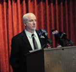 Tim Dean announced his candidacy for the 25th Congressional District this afternoon. - PHOTO BY JEREMY MOULE