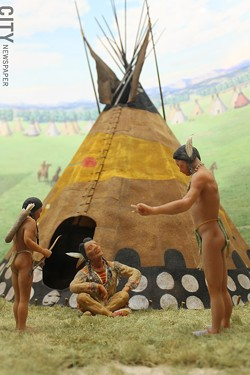 """Detail from one of the many dioramas included in the """"At The Western Door"""" exhibit at RMSC. - PHOTO BY WILLIE CLARK"""