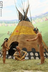 "Detail from one of the many dioramas included in the ""At The Western Door"" exhibit at RMSC. - PHOTO BY WILLIE CLARK"
