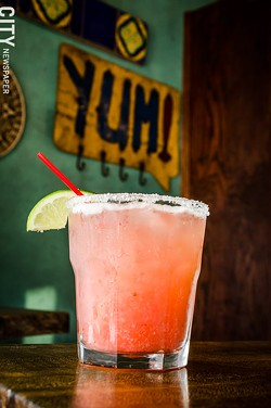 Dorado on Park Avenue makes fresh fruit margaritas, including a Strawberry Margarita. - PHOTO BY MARK CHAMBERLIN