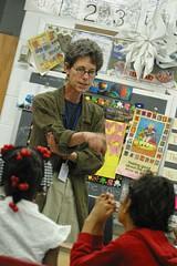 Dory Driss teaching at School 29.