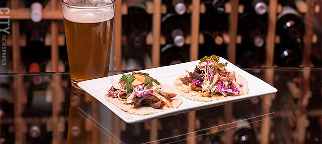 Duck Tacos at The Revelry.