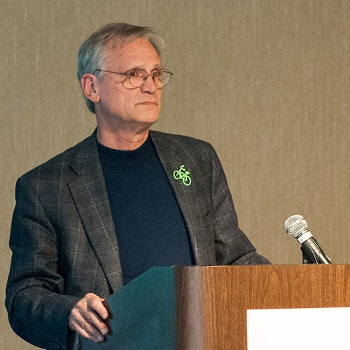 Earl Blumenauer speaking to the Genesee-Finger Lakes Active Transportation Summit.