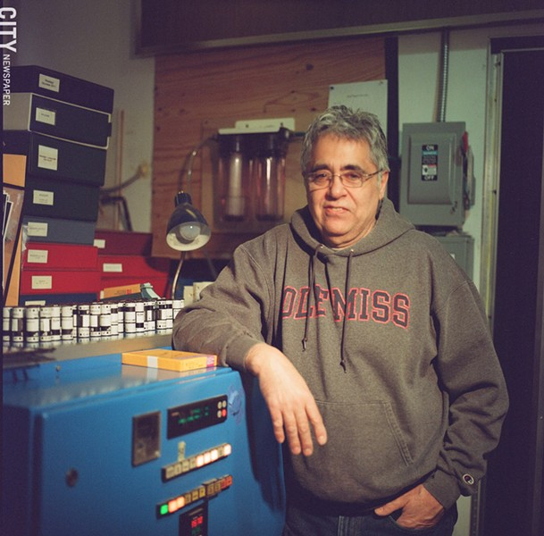 Edgar Praus says the last two years have been the best in his lab's 30 years of operation. - [Photographed with a Hasselblad 500c with Kodak Portra 800 speed 120 roll film] - PHOTO BY MIKE HANLON