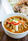El Pilon Criollo serves traditional Hispanic food, like hog maw — slices of pig stomach — stewed in a peppered broth.