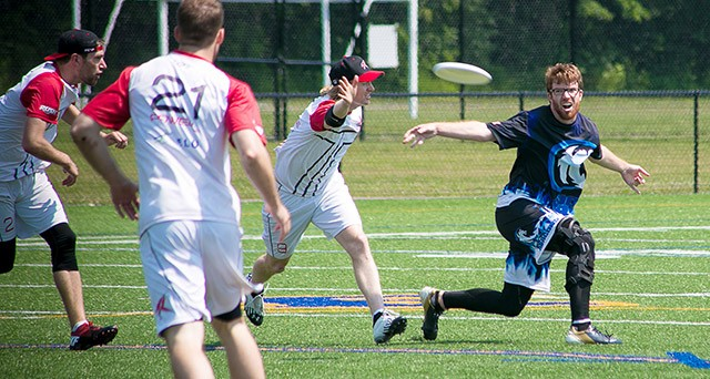 """Eric """"Ginger"""" Dixon of the Rochester Dragons professional Ultimate team."""