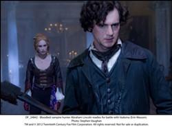 "Erin Wasson and Benjamin Walker in ""Abraham Lincoln: Vampire Hunter."" PHOTO COURTESY 20TH CENTURY FOX"