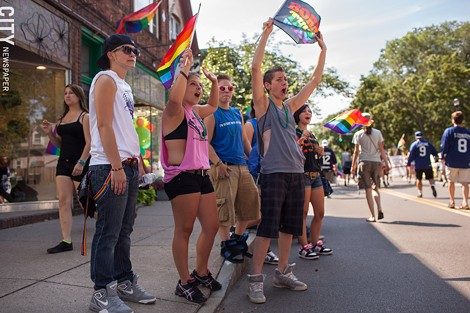 Every year, The Gay Alliance of the Genesee Valley hosts a Pride weekend, including a massive parade to celebrate LGBTQ individuals. - FILE PHOTO