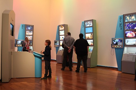 """Exhibits in """"The Art of Video Games"""" exhibit, now on display at Everson Museum in Syracuse."""
