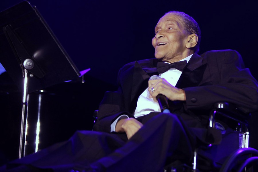 Jimmy Scott performs at Miss Exotic World , Las Vegas in 2009. - PHOTO BY MICHAEL ALBOV (flickr.com/mikegoat)