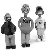 Feats of clay: left to right, Brian  Mason, Toby Bailey, Ronnie Lickers.