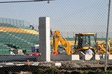 PHOTO BY JASON WOZ - Field of dreams and dollars: PaeTec Park under construction