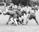 Fighting Irish: Erin's Isle Gaelic football league in action.