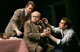 KEN A. HUTH - Fighting to get ahead: Stephen Key, Jim Edmondson, and Christian Kohn in Death of a Salesman.