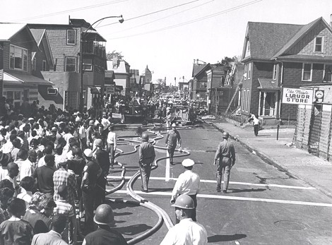 Firefighters in action on Clarissa Street. - PHOTO COURTESY THE CITY OF ROCHESTER, ROCHESTER, NEW YORK