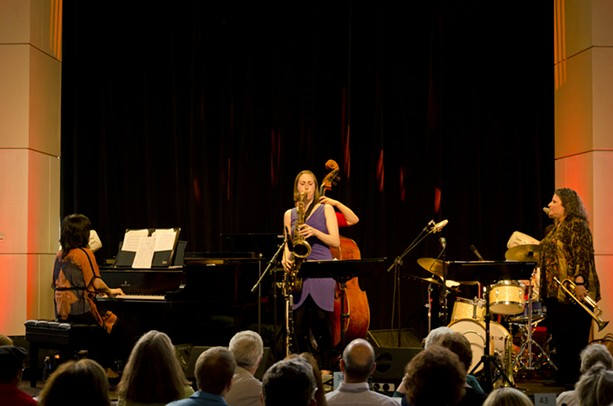 Five Play performed Saturday, June 29, at Max of Eastman Place as part of the 2013 Xerox Rochester International Jazz Festival. - PHOTO BY MARK CHAMBERLIN