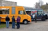 Food trucks like Hello Arepa and Marty's Meats occasionally set up shop at the Object Maker's Lot near the Public Market. - PHOTO BY MATT DETURCK