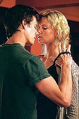 """Footloose and conscience-free: Kevin Bacon and Charlize Theron in """"Trapped."""""""