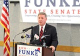 PHOTO BY JEREMY MOULE - Former WHEC news anchor Rich Funke announced his candidacy for State Senate last week.