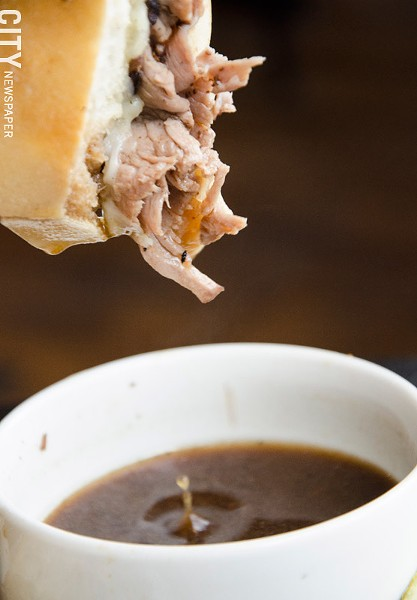 French dip with au jus - PHOTO BY MARK CHAMBERLIN