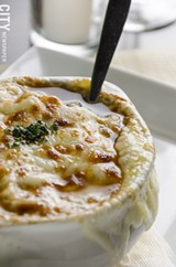 PHOTO BY MARK CHAMBERLIN - French onion soup
