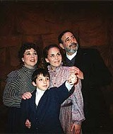 "From left: Cara D'Emanuele, Clay Thomson, Erin Koch, and Herb Katz in Blackfriars' production of ""Rags."""