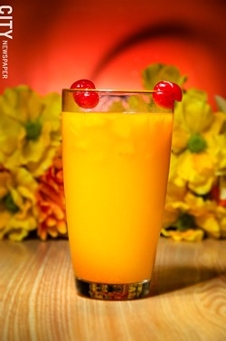 Fruit juice made in-house at La Marifinga.
