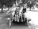 Gambit - editor Michael Tisserand, wife Tami Hinz, children Miles and Cecelia, and their three cats, who - escaped from New Orleans before - Katrina hit.